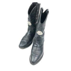 Harley - Davidson Men's Sz. 9.5 Black Skull Boots